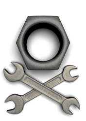 Wrenches and Nut mimic Jolly Roger